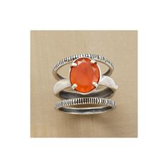 CENTRAL CARNELIAN RING TRIO - Rings - Jewelry | Robert Redford's... ($188) via Polyvore