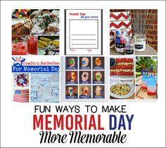 Fun Ways to Make Memorial Day More Memorable from www.thirtyhandmadedays.com