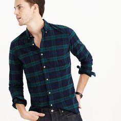 Vintage oxford shirt in Black Watch plaid