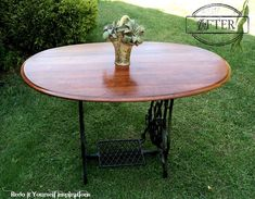 Repurposed+Treadle+Sewing+Machine+to+Dining+Table