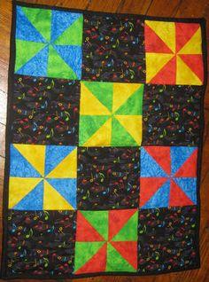 Musical Pinwheels mini quilt