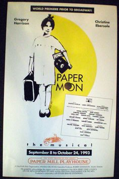 Paper Moon. Paper Mill Playhouse. 1993