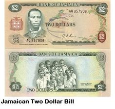 *Bob Marley* Jamaica, his cradle, his home island, his yard, and the birthplace of reggae.  Jamaica $2 bill. More fantastic pictures and videos of *Bob Marley* on: https://de.pinterest.com/ReggaeHeart/