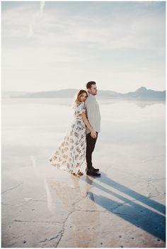 Eden Strader Photography, Bonneville Salt Flats engagement session, beach engagement session, utah engagement's, engagement outfit ideas, engagement pose ideas, sunset couple's session, destination wedding photographer