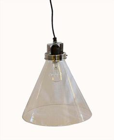280dia x260h Brushed Pewter Finish Hanging Glass Lamp : Hanging Lamps : C.C. Interiors Product Catalogue