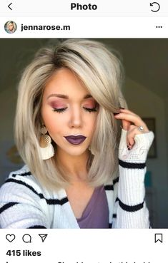 today calls for glasses, the easiest lazy-day look💕, leftover slept on hair, and relaxation. That's what Saturdays are for,… Short Hairstyles For Thick Hair, Mom Hairstyles, Pretty Hairstyles, Medium Hair Styles, Short Hair Styles, Fresh Hair, Big Hair, Hair Today, Hair Dos