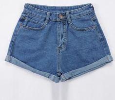 73c187afe26  VIOLA  High Waist Denim Shorts Plus Size XS-4XL Femme Feminino Short Jeans