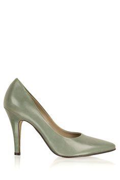 Noe | Leren pumps Nicole | groen