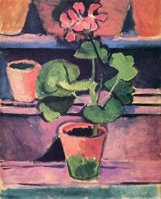Still Life (Flowers in pot) - Henri Matisse