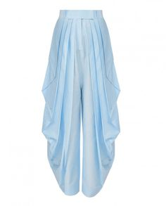 Sky Blue Dhoti Pants - Rishta by Arjun Saluja - Designers