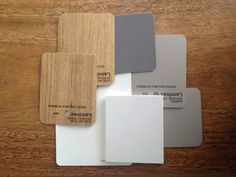 Above are my kitchen colours. After my last kitchen being white gloss cupboards and grey stone benches, I was after something a li...