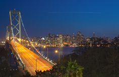 Bay Bridge & SF at SunSet_HDR30