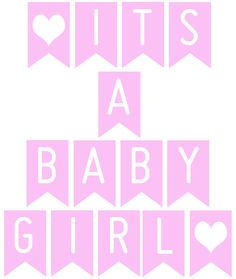 FREE Printable banner 'It's a baby girl'