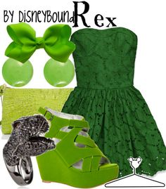 disneybound. i love the dress, i love the colors, i love the bow, and that ring... i would totally wear this whole thing. awesome.