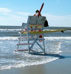 Cape May Wildwood Life Guard Stand at the Beach