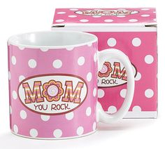 We love this mug for your Mom on Mother's Day.  It is perfect for your sweet Mom in this pink color.... Love this mug......