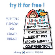 Growth Mindset Flip Books for Little Red Riding Hood