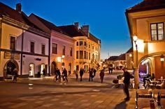 Varazdin at evening,Croatia