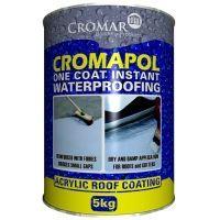 Cromapol Acrylic Waterproof Roof Coating Paint 5kg Grey Roofing Superstore Roof Coating Emergency Roof Repair Roof Paint