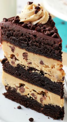 peanut butter brownie layer cake