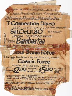 Vintage Ads - Early rap/hip-hop/roller-disco flyers, NYC, 1979-1983
