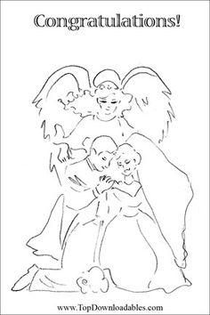 Angel Theme Wedding #Coloring #Card
