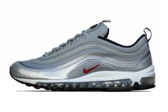 buy online 486ad 787b8 Nike Air Max 97 PRM Tape QS Metallic Silver Varsity Red