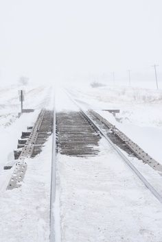 Ice & Snow on train tracks