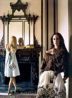 Bottega Veneta...love the bottom of the front dress.
