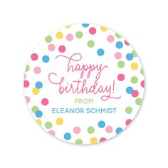 Happy Birthday to You! Personalized Birthday Gift Stickers l Peony ...