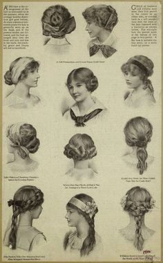 Birdie's Perch: Edwardian Girl's Hairstyles