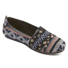 Women's Mad Love Lydia Canvas Slip On Shoes - Multi-Colored 6