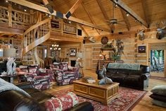 Charming Log Home Near a 155-Acre Lake  3 bedrooms, 3 baths and almost 3,000 sq. ft. ln the house
