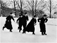 Priests with their skates on, 1966, by  Arthur Steel