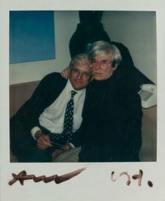 View Untitled David Hockney and Andy Warhol by Andy Warhol on artnet. Browse upcoming and past auction lots by Andy Warhol. Andy Warhol, Famous Artists, Great Artists, Polaroid Pictures, Polaroids, Pop Art Movement, David Hockney, Mark Rothko, Artist Art