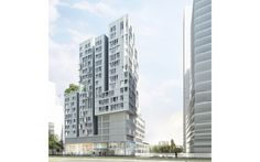 Mixed-use Buildings   Tania Concko   Architects Urbanists BRUNESEAU B1A4 Perspective © TU VERRAS Mix Use Building, Multi Story Building, Perspective, Mixed Use, Social Housing, Rive Gauche, B1a4, Towers, Architects