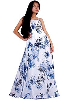MayriDress Women Black Summer Dress Maxi Plus Size Graduation Chiffon Gift Long 2X White Blue Floral ** For more information, visit image link.
