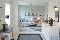 greenish/moss instead of blue, and light airy feeling, and it could be applied to my home