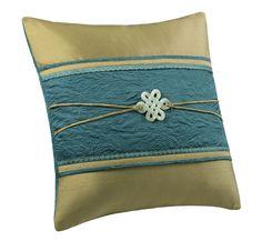 "Natori Potala Palace Decorative Square Pillow 18""x18"" Leaf Green"