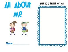 Use this cute and printable book for an All About Me Unit, or great for the beginning of the year!  Simple and great for PreK and Kindergarten!  ...