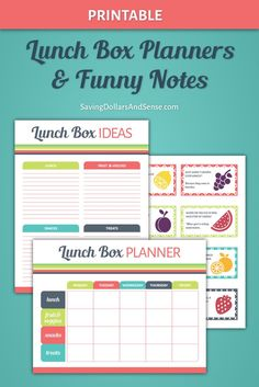 Use this free Lunch Box Planner Set to teach your kids how to plan their own lunches and save time and money this school year.