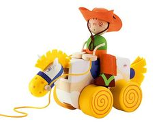 PULL ALONG COWBOY | Cowboy Toy, Wood Pull Toy | UncommonGoods