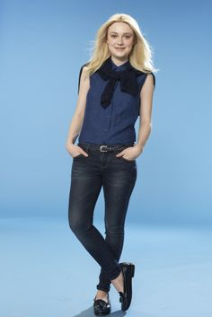 An ad visual from Uniqlo's spring 2014 campaign featuring Dakota Fanning. [Courtesy Photo]