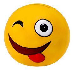 Huchas con las caras de los emojis un regalo simpático para su primera comunion