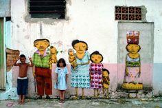 OS GEMEOS, Brazilia, graffiti
