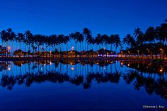 This morning before sunrise at Ala Moana Beach Park!!