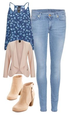"""Caroline Forbes Inspired Outfit"" by mytvdstyle ❤ liked on Polyvore featuring 7 For All Mankind, SELECTED, Inspired, tvd and thevampirediaries"