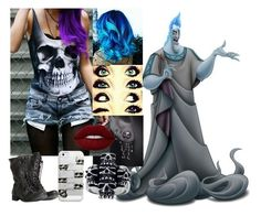 """""""Hades - CASUAL"""" by blackest-raven ❤ liked on Polyvore featuring Mia Sarine, AllSaints, Casetify and Lime Crime"""