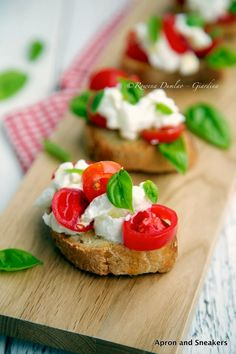 Apron and Sneakers - Cooking & Traveling in Italy and Beyond: Stracciatella, Tomatoes & Basil Crostini