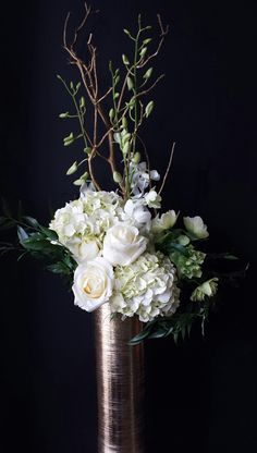 Native Flower Company. Floral Design of the Week: White and Gold | Utah Bride & Groom